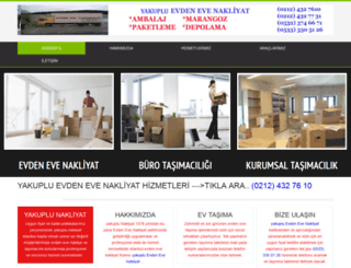 yakupluevdenevenakliyat.com screenshot