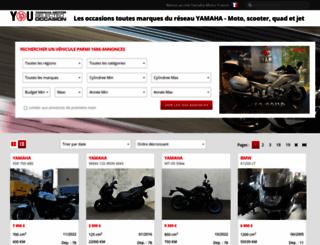 yamaha-occasion.com screenshot