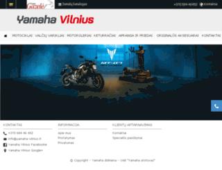 yamaha-vilnius.lt screenshot