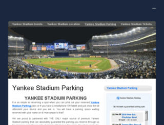 yankeestadiumparking.com screenshot
