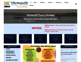 yarmouthlibraries.org screenshot