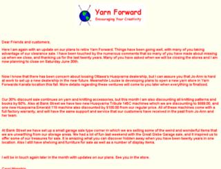 yarnforward.com screenshot