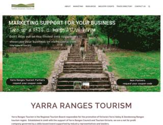 yarrarangestourism.com.au screenshot