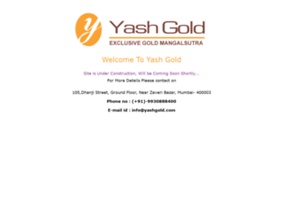 yashgold.com screenshot