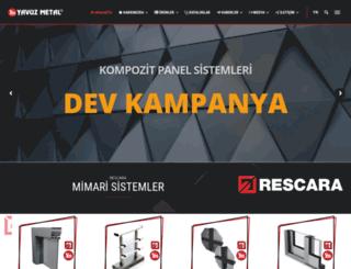 yavuzaluminyum.com screenshot