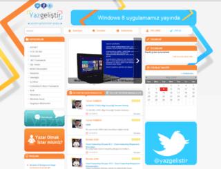 yazgelistir.com screenshot