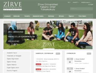 ydyo.zirve.edu.tr screenshot