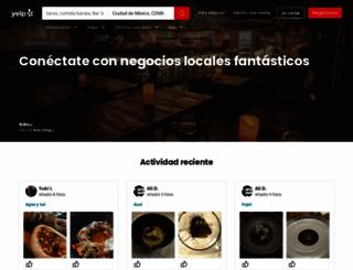 yelp.com.mx screenshot