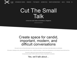 yes.cutthesmalltalk.com screenshot