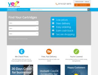 yescartridges.co.uk screenshot