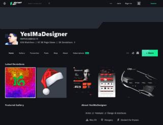 yesimadesigner.deviantart.com screenshot