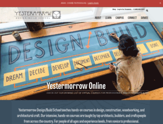 yestermorrow.org screenshot