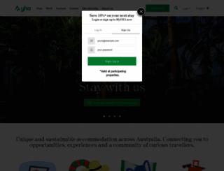 yha.com.au screenshot