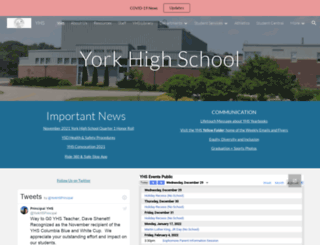 yhs.yorkschools.org screenshot
