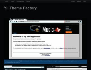 yii.themefactory.net screenshot