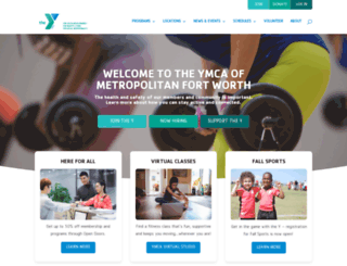 ymcafw.org screenshot