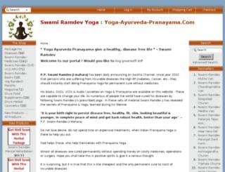 yoga-ayurveda-pranayama.com screenshot