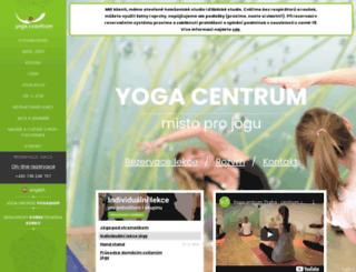 yogacentrum.cz screenshot