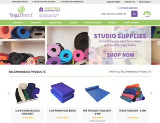 yogadirect.co.uk screenshot