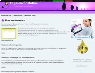 yogalehrer-online.de screenshot