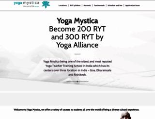 yogamystica.com screenshot