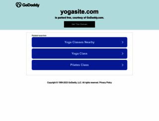 yogasite.com screenshot
