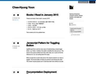 yoonchee.com screenshot