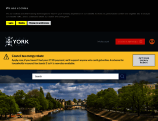 york.gov.uk screenshot