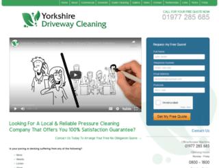 yorkshiredrivewaycleaning.co.uk screenshot