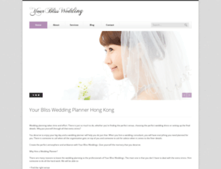 yourblissweddings.com screenshot