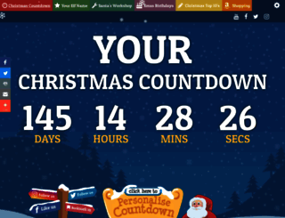 yourchristmascountdown.com screenshot