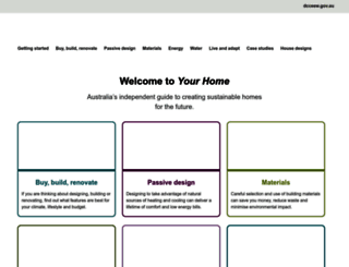 yourhome.gov.au screenshot