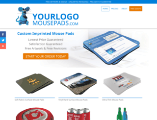 yourlogomousepads.com screenshot