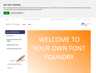 yourownfont.com screenshot