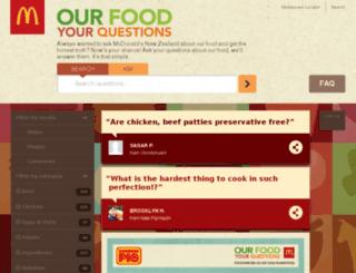yourquestions.mcdonalds.co.nz screenshot