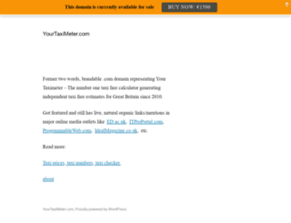 yourtaximeter.com screenshot