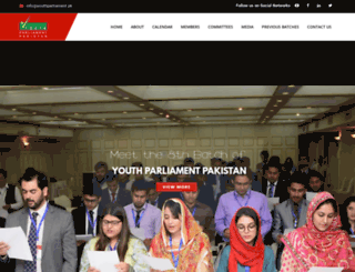 youthparliament.pk screenshot