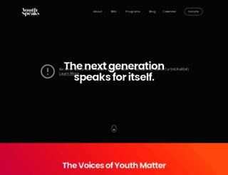 youthspeaks.org screenshot