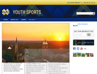 youthsports.nd.edu screenshot