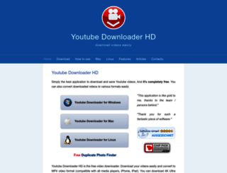 youtubedownloaderhd.com screenshot