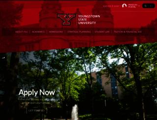 ysu.edu screenshot