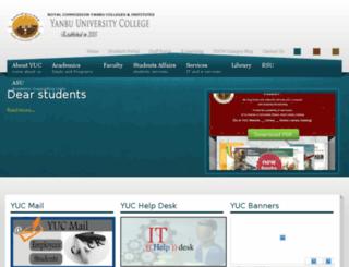 yuc.edu.sa screenshot
