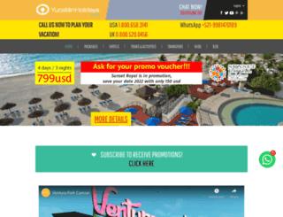 yucatan-holidays.com screenshot