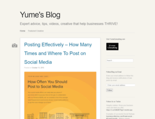 yumeconsulting.wordpress.com screenshot