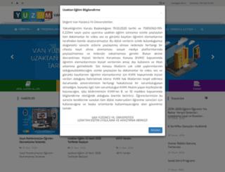 yuzem.yyu.edu.tr screenshot