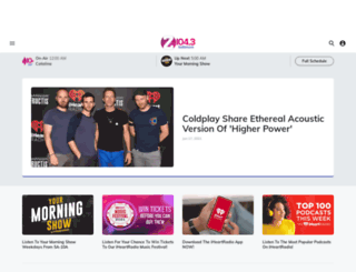 z1043.iheart.com screenshot