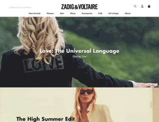 zadigetvoltaire.com screenshot