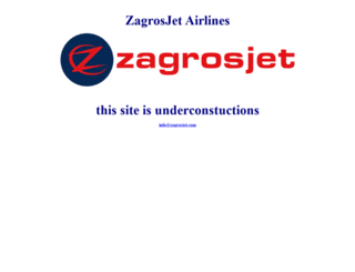 zagrosjet.com screenshot