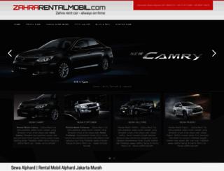 zahrarentalmobil.com screenshot