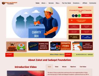 zakatandsadaqat.org.ng screenshot